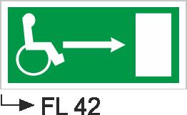 Acil Çıkış Yönlendirme Levhaları - Fl 42 Fl 42