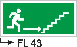 Acil Çıkış Yönlendirme Levhaları - Fl 43 Fl 43