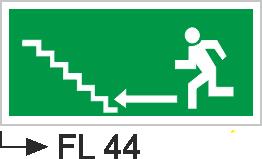 Acil Çıkış Yönlendirme Levhaları - Fl 44 Fl 44