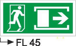 Acil Çıkış Yönlendirme Levhaları - Fl 45 Fl 45
