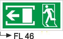 Acil Çıkış Yönlendirme Levhaları - Fl 46 Fl 46