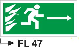 Acil Çıkış Yönlendirme Levhaları - Fl 47 Fl 47