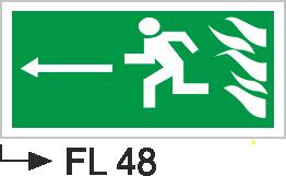 Acil Çıkış Yönlendirme Levhaları - Fl 48 Fl 48