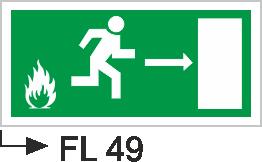 Acil Çıkış Yönlendirme Levhaları - Fl 49 Fl 49