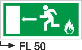 Acil Çıkış Yönlendirme Levhaları - Fl 50 Fl 50