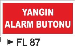 Acil Çıkış Yönlendirme Levhaları - Yangın Alarm Butonu Fl 87