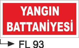Acil Çıkış Yönlendirme Levhaları - Yangında Battaniyesi Fl 93
