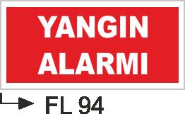 Acil Çıkış Yönlendirme Levhaları - Yangında Alarmı Fl 94