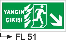 Acil Çıkış Yönlendirme Levhaları - Yangın Çıkışı Fl 51