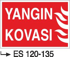 Fotolümenli Uyarı Levhaları - Yangın Kovası Es 120-135