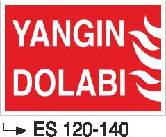 Fotolümenli Uyarı Levhaları - Yangın Dolabı Es 120-140