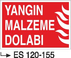 Fotolümenli Uyarı Levhaları - Yangın Malzeme Dolabı Es 120-155