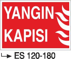 Fotolümenli Uyarı Levhaları - Yangın Kapısı Es 120-180