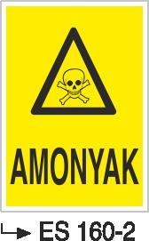 Tehlikeli Madde İkaz Levhaları - Amonyak Es 160-2