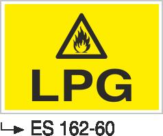Doğalgaz ve Gaz Uyarı Levhaları - Lpg Es 162-60