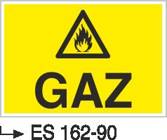 Doğalgaz ve Gaz Uyarı Levhaları - Gaz Es 162-90