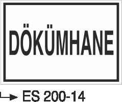 Kısımlar Levhası - Dökümhane Es 200-14