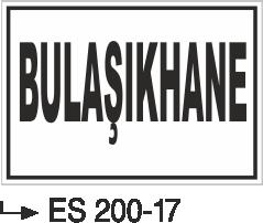 Kısımlar Levhası - Bulaşıkhane Es 200-17