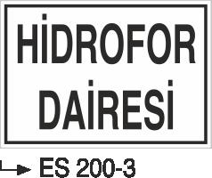 Kısımlar Levhası - Hidrofor Dairesi Es 200-3