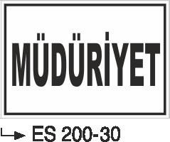 Kısımlar Levhası - Müdüriyet Es 200-31