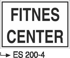 Kısımlar Levhası - Fıtnes Center Es 200-4