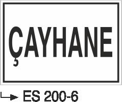 Kısımlar Levhası - Çayhane Es 200-6