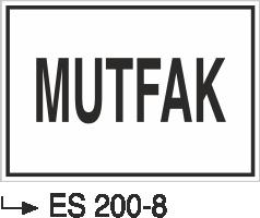 Kısımlar Levhası - Mutfak Es 200-8