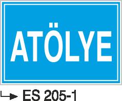 Kısımlar Levhası - Atölye Es 205-1