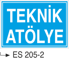 Kısımlar Levhası - Teknik Atölye Es 205-2