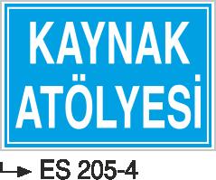 Kısımlar Levhası - Kaynak Atölyesi Es 205-4