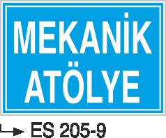Kısımlar Levhası - Mekanik Atölyesi Es 205-9
