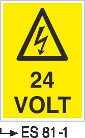 Voltaj Uyarı Levhaları - 24 Volt Es 81-1