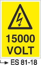 Voltaj Uyarı Levhaları - 1500 Volt