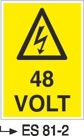 Voltaj Uyarı Levhaları - 48 Volt Es 81-2