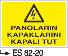 Elektrik Pano Levhaları - Pano Kapaklarını Kapalı Tut Es 82-20