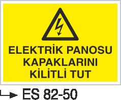 Elektrik Pano Levhaları - Elektrik Panosu Kapaklarını Kilitli Tut Es 82-50