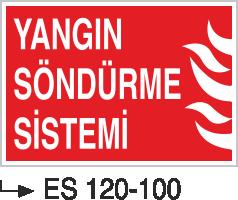 Fotolümenli Uyarı Levhaları - Yangın Söndürme Sistemi Es 120-100