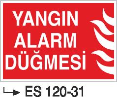 Fotolümenli Uyarı Levhaları - Yangın Alarm Düğmesi Es 120-31