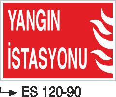 Fotolümenli Uyarı Levhaları - Yangın İstasyonu Es120-190