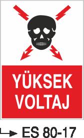 Elektrik Uyarı Levhaları - Yüksek Voltaj Es 80-13