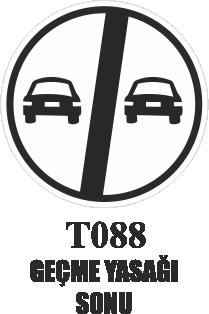 Trafik Tabelaları - Geçme Yasağı Sonu T088