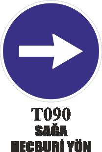 Trafik Tabelaları - Sağa Mecburi Yön T090