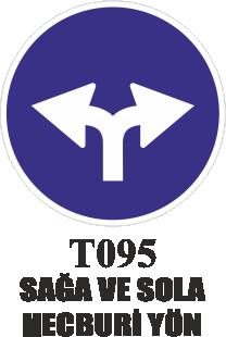 Trafik Tabelaları - Sola Ve Sola Mecburi Yön T095