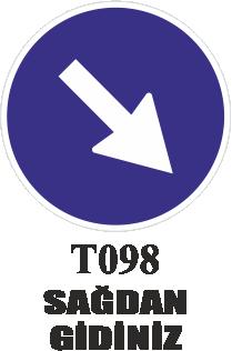 Trafik Tabelaları - Sağdan Gidiniz T098