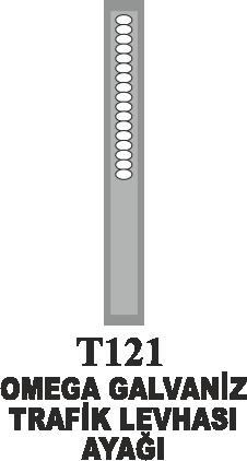 Trafik Tabelaları - Omega Galvaniz Trafik Levhası Ayağı Galvaniz Omega Direk