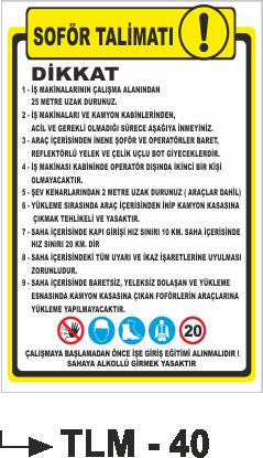 Talimatlar - Şoför Talimatı Tlm-40