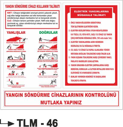 Talimatlar - Yangın Söndürücü Kullanma Talimatı Tlm-46